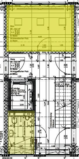 Plan Büro und Etagen-Nasszelle